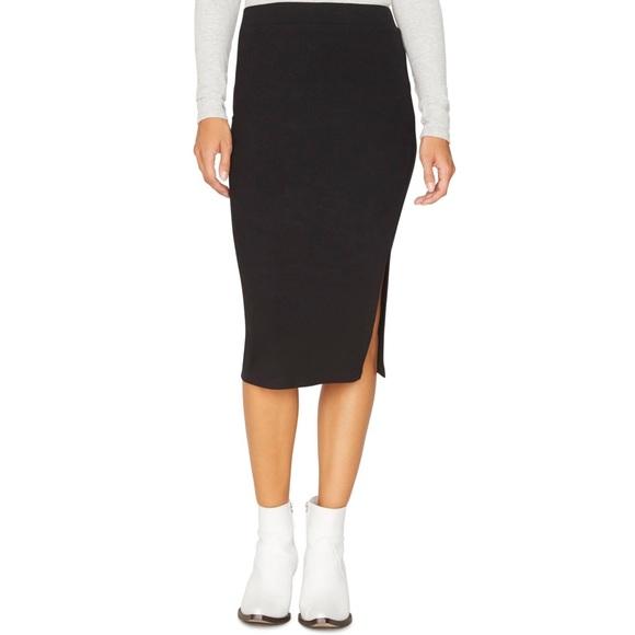 Sanctuary Dresses & Skirts - Sanctuary | Black Rib Pencil Midi Skirt